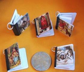 All 5 Miniature Book Charms with Little Red Riding Hood Theme