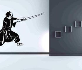 Samurai Wall Decals Vinyl Sticker