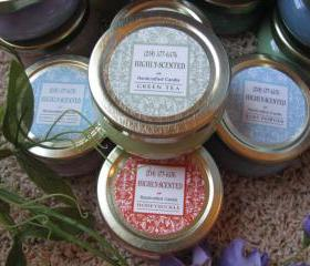 3ea HIGHLY Scented Candles 3.3oz Tureen Jars NEW LABELS Choice of Scent