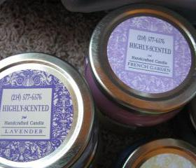 2ea HIGHLY Scented Candles 6oz Tureen Jars NEW LABELS Choice of Scent