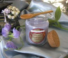 1ea Crystallized Candle 8.5oz Round JarWoodenSpoon