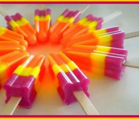 Soapsicle - Pomegranate Mango Papaya - Soap Popsicle - Party Favors