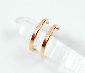 Copper Double Band Ear Cuff