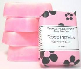 Rose Petals Shea Soap, Handmade, Simple Indulgence