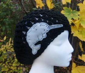 Black Narwhal Slouchy Hat