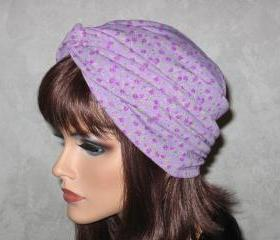 Handmade Twist Turban -Lavender Millefleur