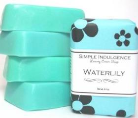 Waterlily Shea Soap, Simple Indulgence, Light floral fragrance