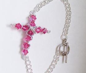 Beaded Christian Cross Bracelet