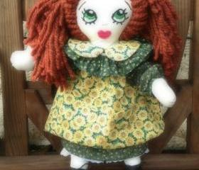 Irish Beauty Cloth Rag Doll