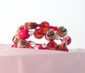 Bracelet, Red China Doll