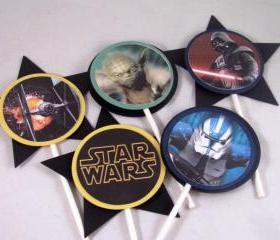 Star Wars Cupcake Toppers featuring your favorite characters