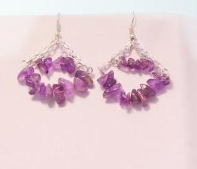 Amethyst Earrings,