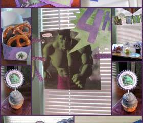 Incredible Hulk Party Package