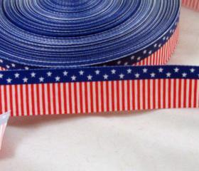 Stars & Stripes 7/8' Grosgrain Ribbon