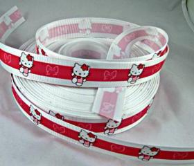Hello Kitty Ribbon- 3 Yards, 7/8'