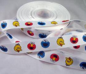 Sesame Street Grosgrain Ribbon - 3 yards, 7/8'