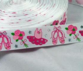 3 Yards of Pretty Ballerina 7/8' Grosgrain Ribbon