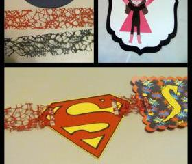 Super Hero Birthday Banner Featuring Superman or Super Girl