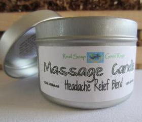 Massage Candle - All Natural Headache Relief Blend