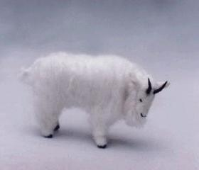 Miniature Soft Sculpture Mountain Goat