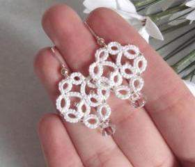 Bridal Tatted Lace Earrings