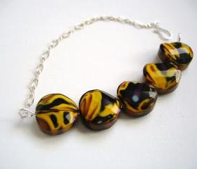 Yellow & Plum Bracelet