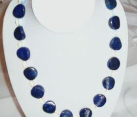 Lapis Lazuli Opalite Chunky Necklace handmade