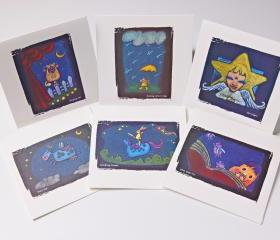 embossed greeting cards set of 6 pack