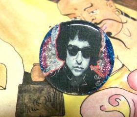 BOB DYLAN ooak glitter resin ring