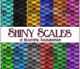 Shiny Scales Digital Papers - 12 Shiny Scales Papers - for Scrapbooking, Birthday Card Making & More