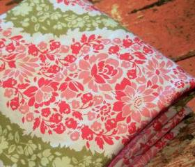 Garden Paisley Baby Blanket and Paris Pink Minky