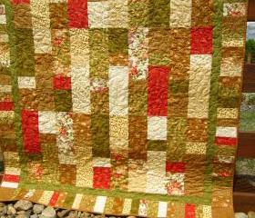 Handmade Quilt Patchwork Garden