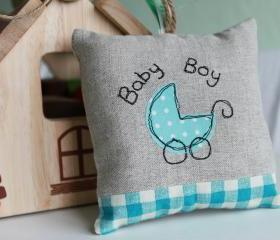 Baby Boy Lavender Scented Mini Hanging Pillow