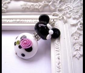 Paris Chic Minnie Mouse Disney Inspired Pendant by Magical Charms