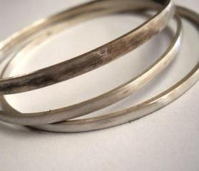 bangles bangle set bagles set sterling silver bangles modern bangles bespoke bangles rustic jewelry