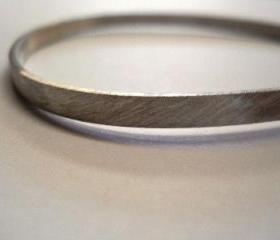 bangle abstract matte sterling silver bangle silver bangle contemporary bangle contemporary jewelry