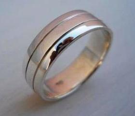 Mens ring Mens band wedding ring with engraving for Carolina