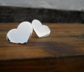 Big heart studs heart earrings big earrings love