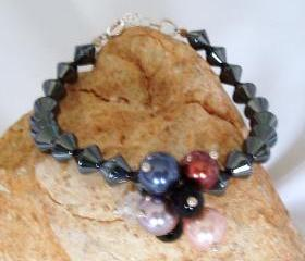 Haematite and Mix Gemstone Bracelet