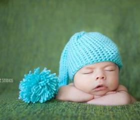 Elf Hat - Newborn Photo Prop for Boy or Girl