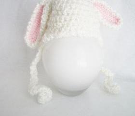 Baby Bunny Hat - Newborn Boy or Girl Photo Prop