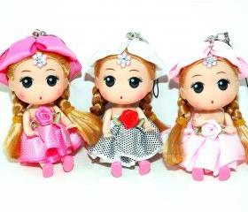 Kawaii Doll Key Chain - Doll Purse Charm - Kids Backpack Zipper Pull - Accessories - Purse Charm