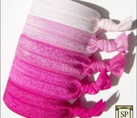 Hair Ties - Cotton Candy Collection - Set of 5 - Elastic Hair Ties - Sweet Petites
