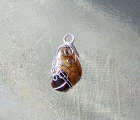 Quartz Stone Wire Wrapped Art Pendant