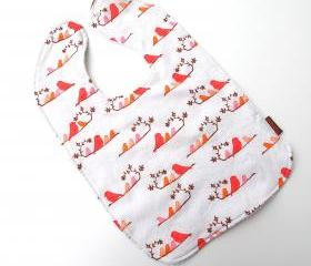 oversize bib toddler bib mandarin birds baby bib