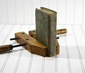 Vintage Wood Clamp / Industrial Decor