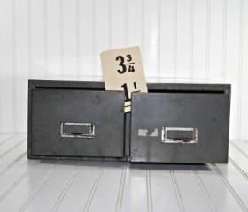 Vintage Industrial Steel File Drawer