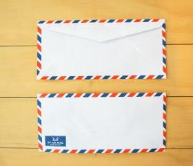 Airmail Envelope, set of 20, Airplane