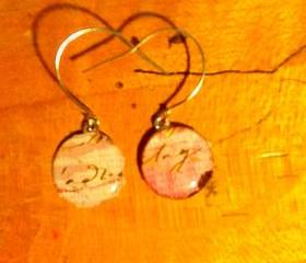 Paris style epoxy earrings 