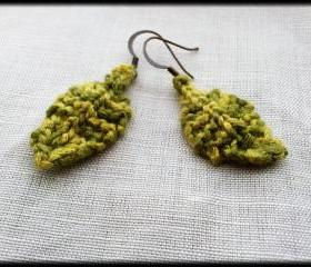 'Evergreen' bamboo leaf earrings